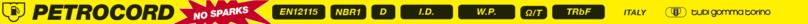 PETROCORD D/16 EN 12115 - NO SPARKS